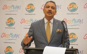 Antigua Tourism Minister Charles Fernandez provided updates at the SOTIC conference in Nassau.