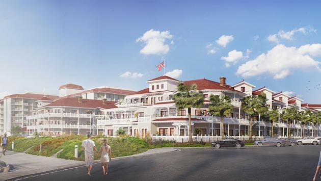 Hotel del Coronado rendering
