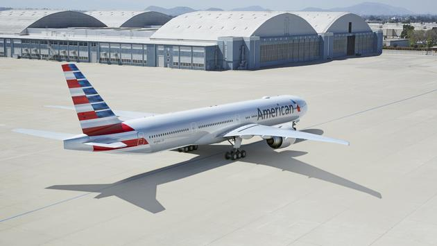American Airlines' Boeing 777-300.