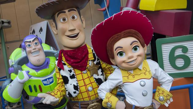 The characters of 'Toy Story' at Toy Story Land at Walt Disney World Resort