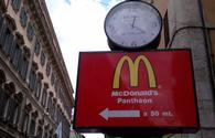 McDonald's sign near the Pantheon in Rome.