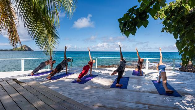 Yoga by the coast at BodyHoliday in St. Lucia