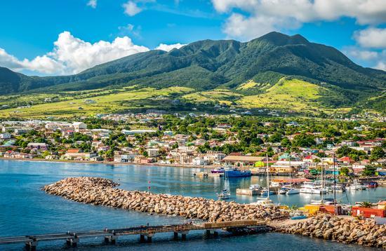 Cruise port Zante, Basseterre, Saint Kitts.