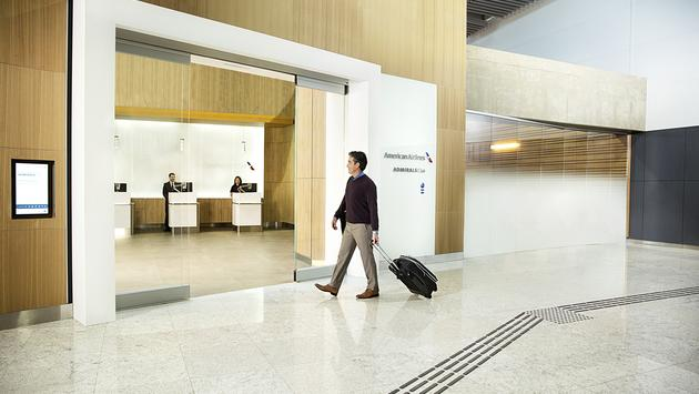 American Airlines' Admirals Club entrance.