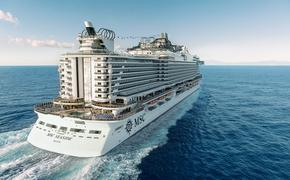 aerial of MSC Seaside