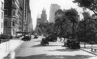 A view down Fifth Avenue in New York City in the 1930s