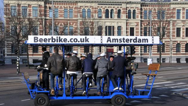 Beer bike tour, Amsterdam
