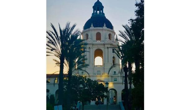 Pasadena sunset at City Hall