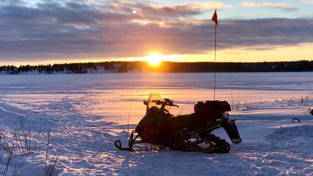 Snowmobile ride, Lulea, Sweden