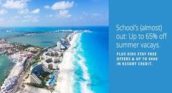 School's (almost) out: Up to 65% off summer vacays