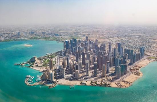 Doha, Qatar from the air
