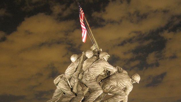 The United States Marine Corp. Iwo Jima Memorial in Washington, D.C.