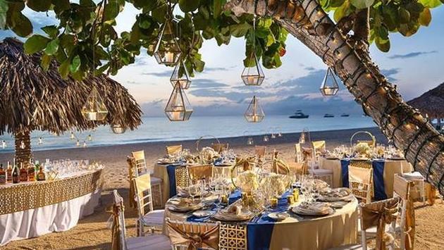 Sandals Wedding Reception