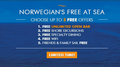 Norwegians' Free At Sea - Choose up to 5 FREE Offers