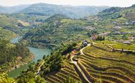 The Douro River bisects Portugal