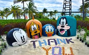 Disney Cruise Line gives thanks with flip flops at Castaway Cay