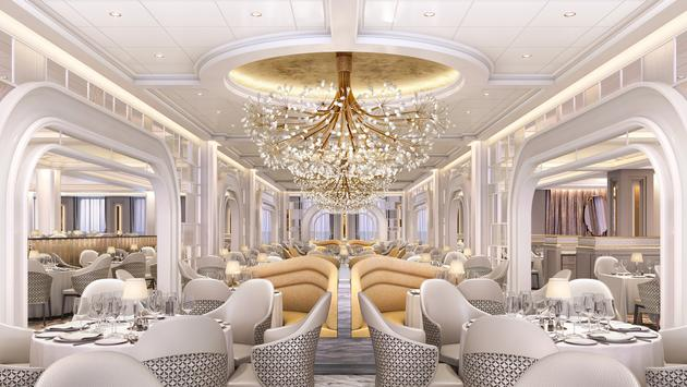 rendering of The Grand Dining Room on Oceania's new Vista.
