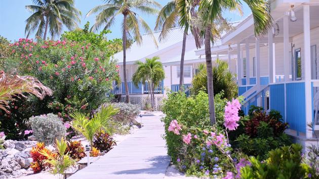 Las villas Paradise tienes unidades casuales pero bonitas  a lo largo de la costa de  Little Caimán. Las villas se ubican a escasos cien metros de un pequeño aeropuerto.