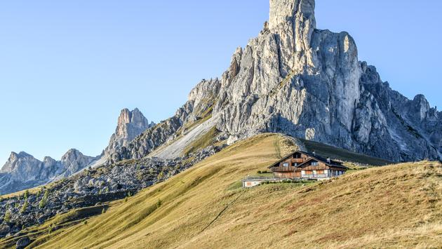 Rifugio in the Dolomites, Italy