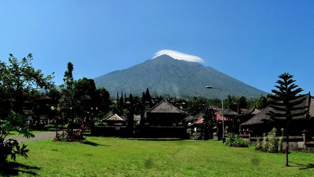 Mount Agung from Besakih temple, Bali, Indonesia
