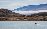 Zodiac-cruise through waters around Eskimonaes, Greenland