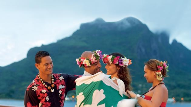 A Polynesian blessing ceremony.