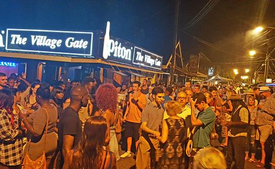 Friday night fish fry street party in Gros Islet, Saint Lucia
