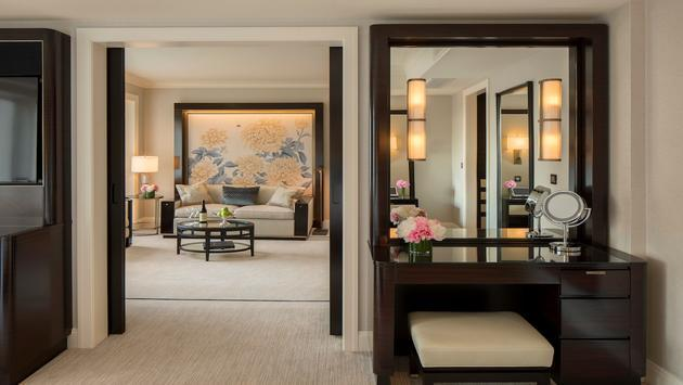 Sitting and Dressing Area in a suite at The Peninsula Chicago