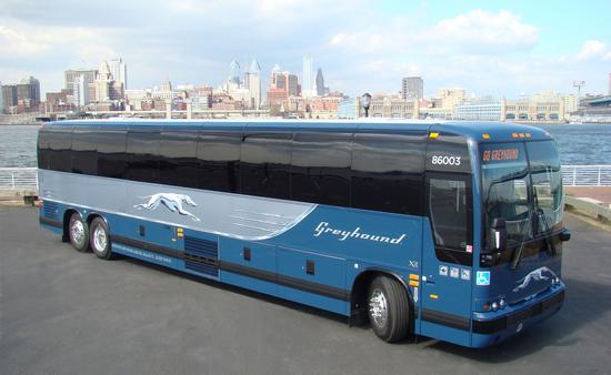 Greyhound bus.