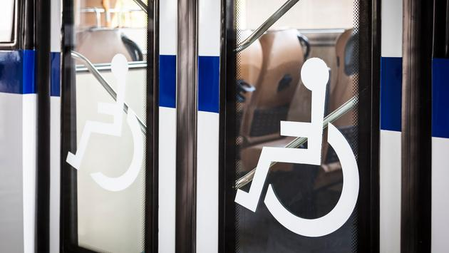 handicap, bus, wheelchair