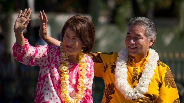 Hawaii Governor David Ige and wife Dawn.