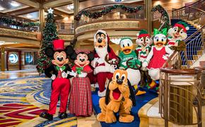 Mickey and friends in their holiday finest