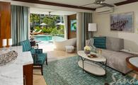 Up to $1,000 Instant Credit: Crystal Lagoon Swim-Up One Bedroom Butler Suite with Patio Tranquility Soaking Tub