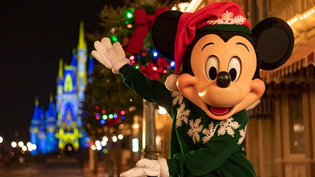 Holiday Mickey Mouse at Disney World