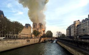 Notre Dame Cathedral on Fire