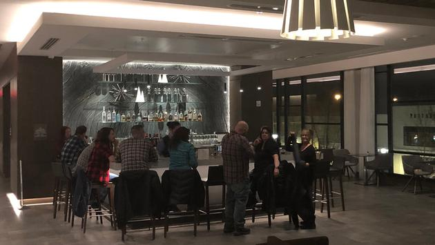 The AC Hotel Beachwood's bar area is a popular evening hangout.