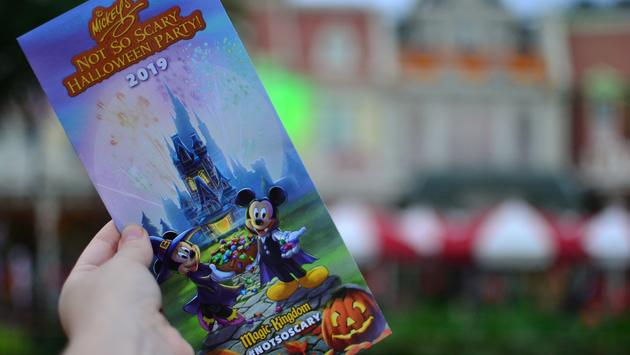 Disney World, Halloween, Mickey's Not-So-Scary Halloween Party brochure