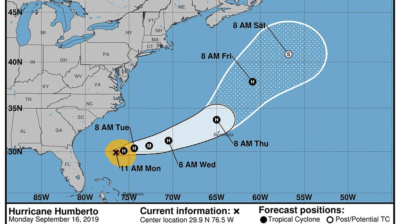 Hurricane Humberto Causes Cruise Ships to Alter Course