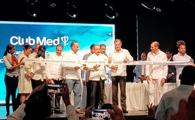 Ribbon-cutting ceremony during the Club Med Miches Playa Esmeralda Grand Opening event.