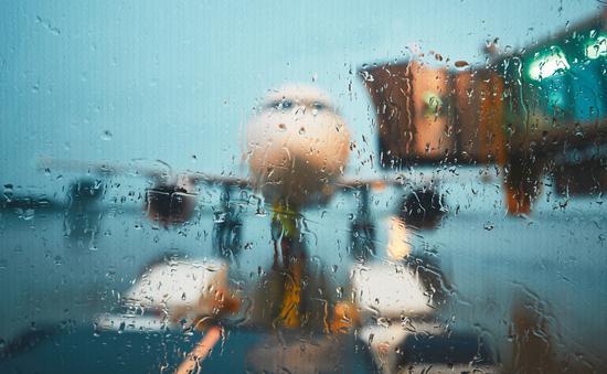 plane, rain, storm
