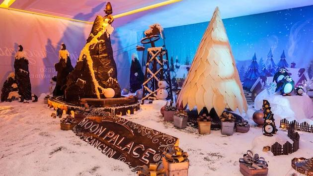 Moon Palace Cancun's chocolate Christmas village