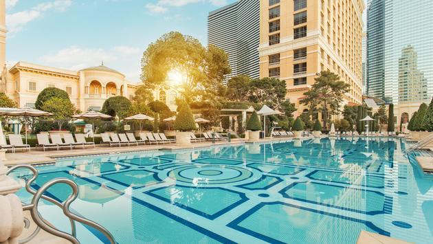 Main pool at Bellagio Resort & Casino