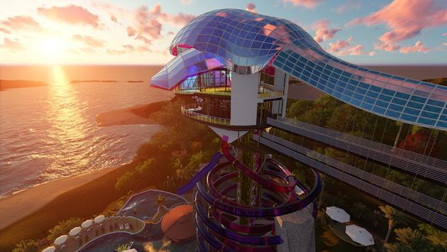 Rendering for Acapulco's new Intense Emotion (Emoción Intensa) amusement park