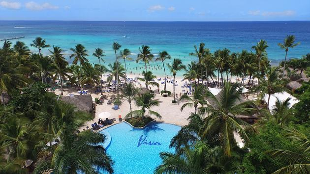 Viva Wyndham Dominicus Beach Aerial View