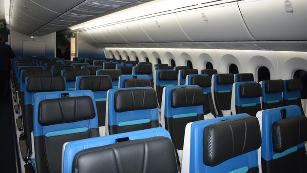 Nouvelle classe Économie, Dreamliner de WestJet.