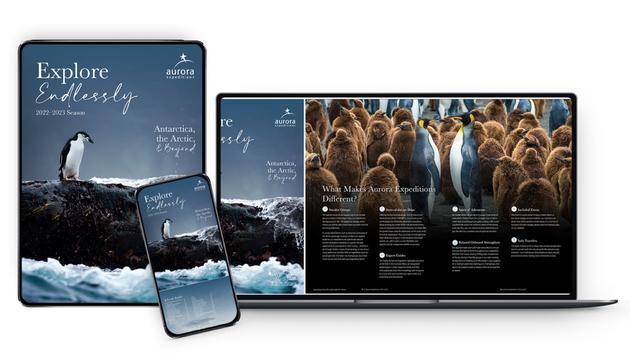 Preview of the Aurora Expeditions' 2022-23 brochure.