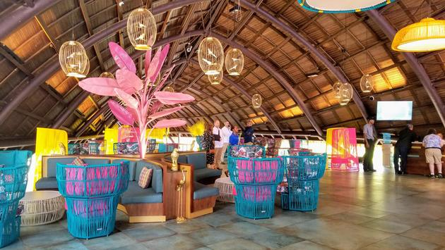 Main lobby at the new Club Med Miches Playa Esmeralda, Dominican Republic