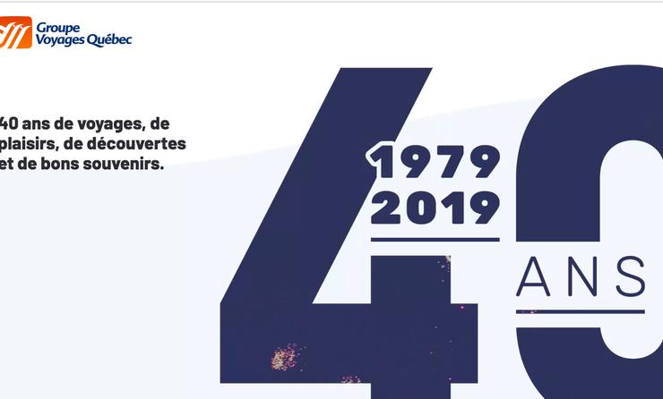 Groupe Voyages Québec 40e anniversaire