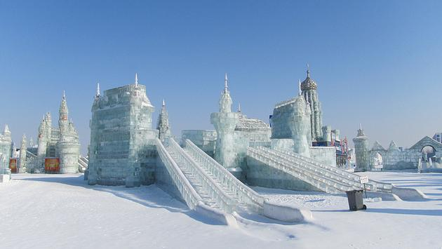 The ice festival in Harbin, China is one of the world's largest