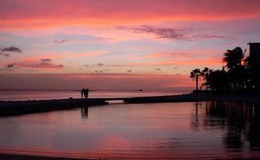 Caribbean sunset Aruba